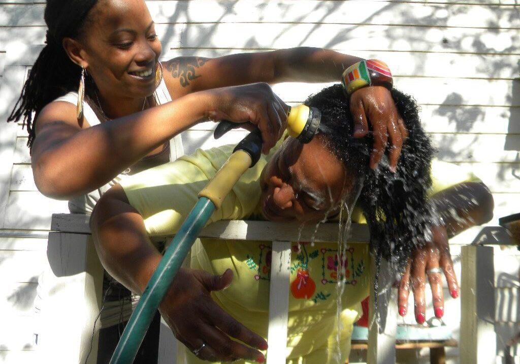 Washing Nappy Hair